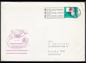50 Jahre Pfadfinder Stempel aus Bern 1963 Brief nach Stade (23773