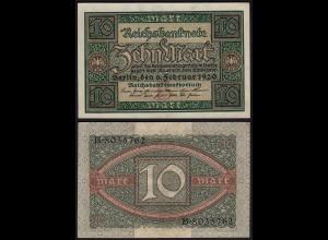 Reichsbanknote - 10 Mark 1920 Ro.63a, Pick 67 Udr B - Serie B aUNC (1-) (23402