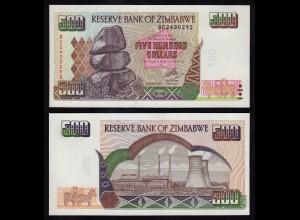 Simbabwe - Zimbabwe 500 Dollars 2004 Pick 11b UNC (1) (17898