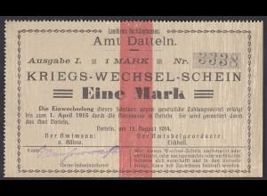 Datteln Westfalen 1 Mark Kriegs-Wechsel-Schein 1914 (25930