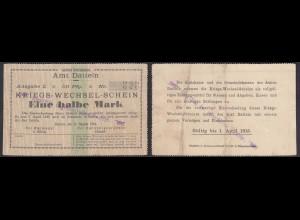 Datteln Westfalen 1/2 Mark Kriegs-Wechsel-Schein 1914 (25933