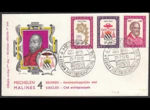 Belgium - Belgien 1248-50 FDC 400 Jahre Mecheln Erzbistum (25969