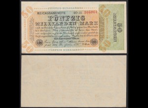 Reichsbanknote - 50 Milliarden Mark 1923 Fz: SO Bz: 22 Ro 117b VF+ (3+) (20399