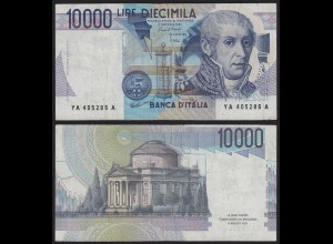 Italien - Italy 10000 10.000 Lire Banknotes 1984 F/VF (3/4) Pick 112a (19954