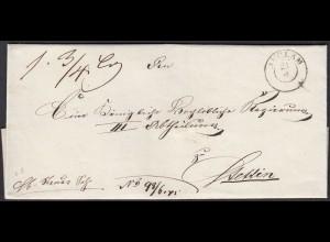 Preussen Pommern ca. 1840 Umschlag von ANCLAM K2 nach STETTIN (24576