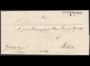 Preussen Pommern ca. 1825 Umschlag von GREIFENHAGEN L2 nach STETTIN (24575