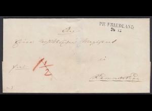 Preussen Umschlag PR: FRIEDLAND L2 Westpreussen heute Debrzno (24572