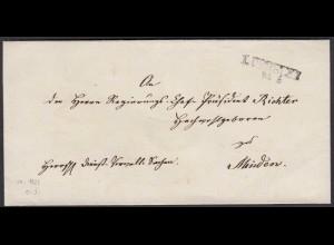 Preussen Umschlag ca. 1825 LÜBBECKE L2 nach MINDEN (24569