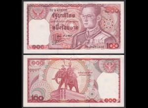 Thailand - Siam 100 Bath ND (1978) Rama IX. sig 55 Pick 89 VF/XF (2/3) (26118