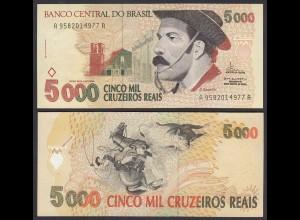 Brasilien - Brazil 5000 5.000 Cruzeiros 1993 Pick 241 VF+ (3+) (26030