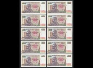 Simbabwe - Zimbabwe 10 Stück á 500 Dollars 2004 Pick 11b UNC (1) (89031