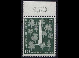 1955 Bund BRD Mi. 220 ** postfrisch Adalbert Stifter 1805-1868 (8607
