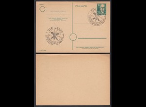SBZ Ganzsache 1949 A.Bebel 10 Pfg. P35 SST BERLIN N W.7 (26074