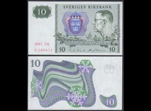 Schweden - Sweden 10 Kronor 1987 Pick 52e UNC (1) (26096