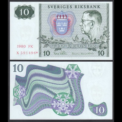 Schweden - Sweden 10 Kronor 1987 Pick 52 r3 UNC (1) REPLACEMENT (26097