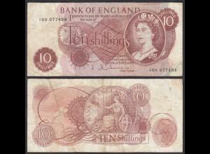 Grossbritannien - Great Britain 10 Shilling ND (1962-66) Pick 373b F (4)