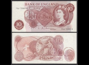 Grossbritannien - Great Britain 10 Shilling (1962-66) Pick 373b XF (2) (26102