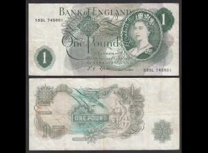 Grossbritannien - Great Britain 1 POUND ND (197´66-70) Pick 374e F/VF (3/4)