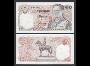 Thailand - Siam 10 Bath ND (1980) Rama IX. sig 57 Pick 87 UNC (1) (26109