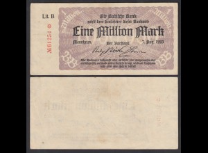 Baden Länderbanknote 1 Million Mark Lit: B Ro.PS912a (26113