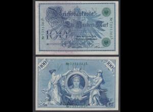 Reichsbanknote 100 Mark 1908 Ro 34 Pick 34 aUNC (1-) (26133