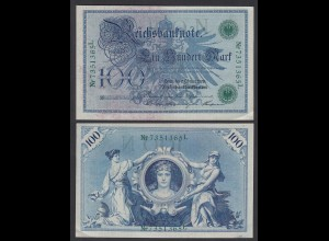 Reichsbanknote 100 Mark 1908 Ro 34 Pick 34 XF (2) (26134