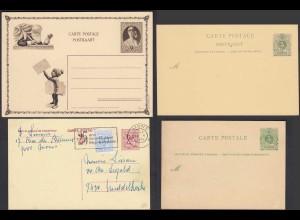 Belgien - Belgium 4 Stück ältere Ganzsachen postal stationery (26148