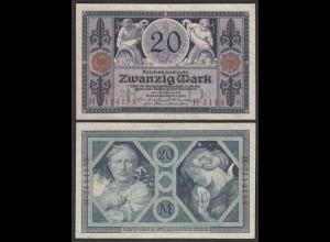 Reichsbanknote 20 Mark 1915 Ro 53 fast aUNC = AU (1-) (26151