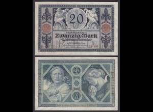 Reichsbanknote 20 Mark 1915 Ro 53 UNC (1) (26152