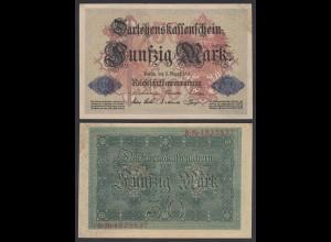 Darlehnskassenschein 50 MARK 1914 - 7-stellig Ro 50b VF (3) (26153