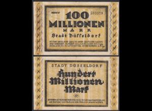 Düsseldorf Stadt 100 Millionen Mark 1923 Notgeld Reihe 2 (26158