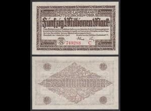 Hessische LANDESBANK - 50 Millionen Mark 1923 Notgeld Serie C rot (26124