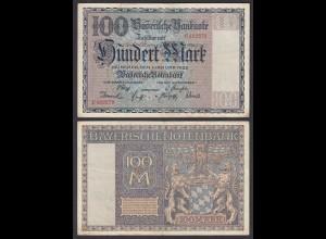 Bayern - 100 Mark 1922 Bayerische Notenbank Ro BAY4 (26125