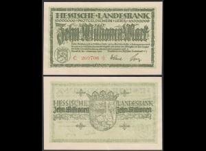 Hessische LANDESBANK - 10 Millionen Mark 1923 Notgeld Serie C rot Star (26123