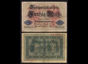Darlehnskassenschein 50 MARK 1914 Ro 50a F (4) (26168