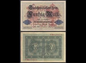 Darlehnskassenschein 50 MARK 1914 Ro 50a F/VF (3/4) (26169