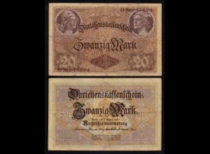 Darlehnskassenschein 20 MARK 1914 Ro 49a F+ (4+) (26175