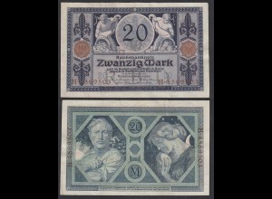 Reichsbanknote 20 Mark 1915 Ro 53 VF/XF (2/3) (26180