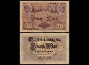 Darlehnskassenschein 20 MARK 1914 Ro 49b 7-stellig F+ (4+) (26179
