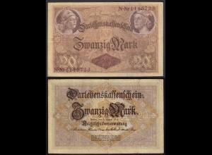 Darlehnskassenschein 20 MARK 1914 Ro 49b 7-stellig VF (3) (26177