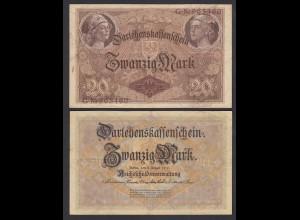 Darlehnskassenschein 20 MARK 1914 Ro 49a 6-stellig VF (3) (26176