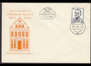 DDR FDC 1.Todestag Thomas Mann Mi.534 Stempel 13.8.1956 (26210