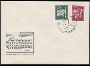 DDR FDC Tag der Briefmarke Mi.735-36 Stempel 17.11.1959 (26214