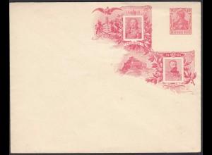 DR 10 Pfg. Germania Ganzsache PU rot Friedrich I + Wilhelm II 1906 (26254