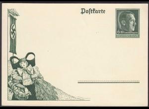 3. Reich Ganzsache 1938 Erntedank P273 ungebraucht Propaganda (26256