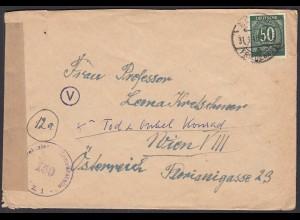 Alliierte Besatzung Brief 1948 Zensur Berlin Friedenau - Wien EF Mi.932 (26258