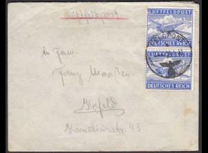 Feldpost-Brief 2.WK Luftfeldpost Mef nach Krefeld ( 26262