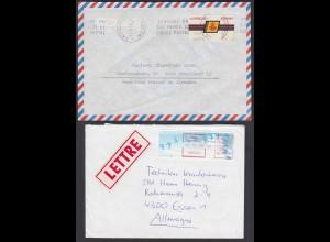 Spanien und Frankreich 2 Briefe mit Automaten Marken (26265