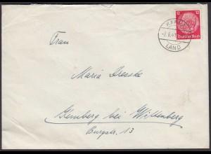 DR Brief Landpost Kahla Land 1941 nach Kemberg (26269