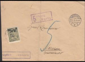 Polen Warschau 1916 Portopflichtige Dienstsache Besatzung 1.WK (26276